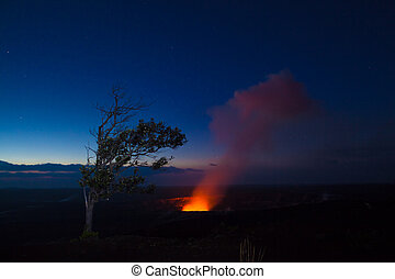 erupção, noturna