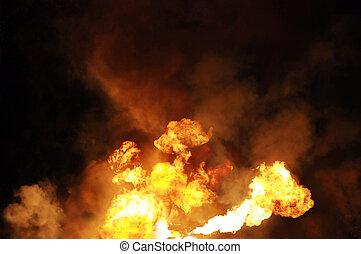 gasoline fire
