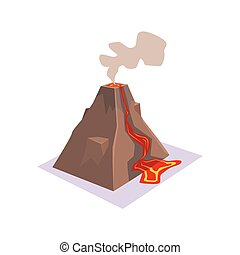 Erupting Volcano Jungle Village Landscape Element