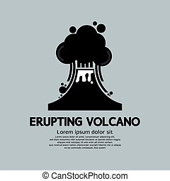 Erupting Volcano Natural Disaster.