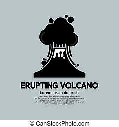 Erupting Volcano Natural Disaster.