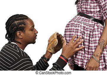 erwarten, eltern, schwarz, afrikanische amerikanische paare