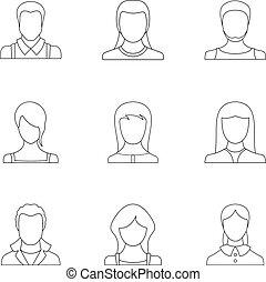 Erysipelas icons set, outline style - Erysipelas icons set. ...
