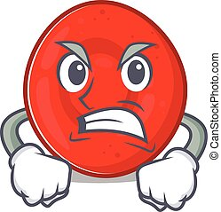 Erythrocyte cell cartoon character design having angry face...
