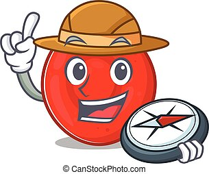 Erythrocyte cell stylized Explorer having a compass. Vector ...