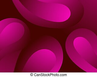 erythrocyte, cells., molecules., sotto, grumo, rosso,...