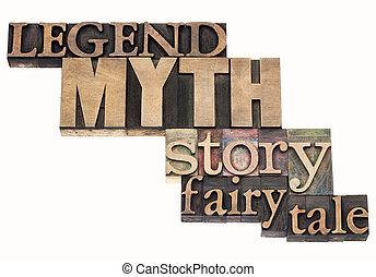 erzählung, legende, mythos, geschichte