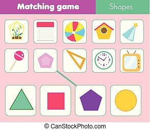 Erzieherisch kinder dreieck formen spiel lernen aktivität kinder ...