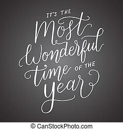 es, año, más, pizarra, tiempo, mano, maravilloso, letras