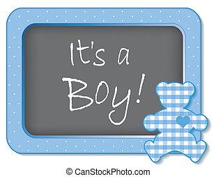 es ist, a, boy!, baby, teddybär