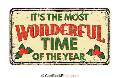 es, más, señal, vendimia, oxidado, tiempo, metal, maravilloso, año