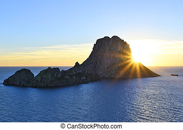 Es Vedra in the sunset