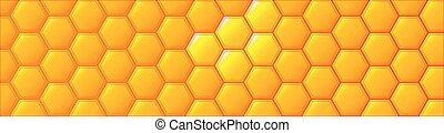 esagonale, web, honeycombe, bandiera, fondo