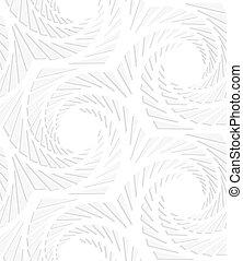 esagoni, struttura, carta, turbinato, bianco