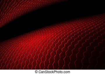 esagono, sfondo rosso, texture.