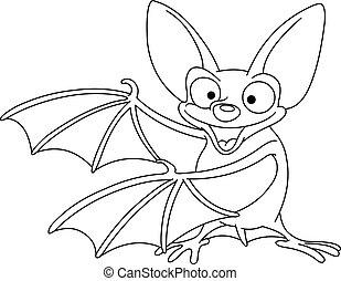 esboçado, morcego
