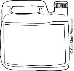 esboçado, recipiente, sabonetes