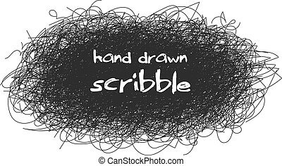 esboço, caótico, abstratos, redondo, desenho, seu