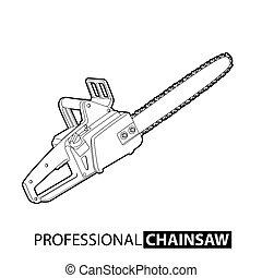 esboço, chainsaw