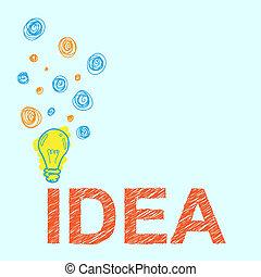 esboço, conceito, idéia, creiom, fundo, letra