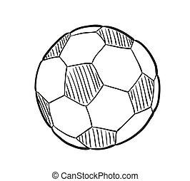 esboço, esfera football