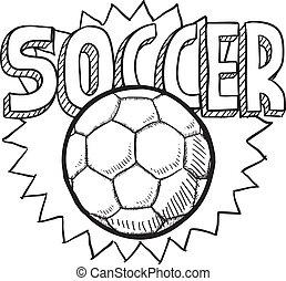 esboço, futebol