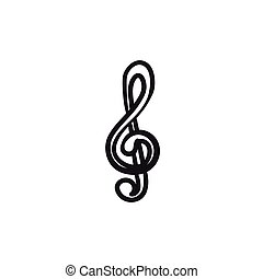 esboço, icon., g-clef