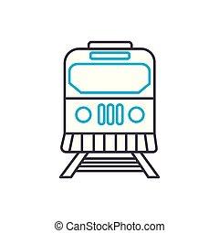 esboço, ilustração, sinal, símbolo, apoplexia, vetorial, magra, linha estrada ferro, concept., icon., linear