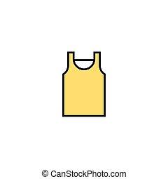 esboço, ilustração, sinal, símbolo, homens, t, apoplexia, vetorial, magra, icon., linear, linha, concept., camisa