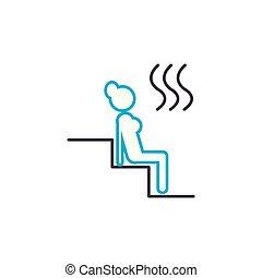 esboço, ilustração, sinal, símbolo, turco, banho, apoplexia,...