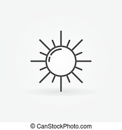 esboço, sol, ícone