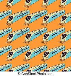 esboço, trem, padrão