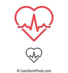 esboço, vetorial, concept., coração, símbolo, eco, graph., ...