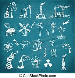 esboços, fontes, energia
