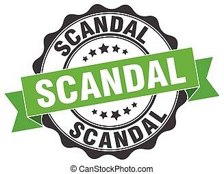 escândalo, sinal., stamp., selo