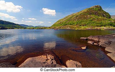 escénico, kerry, condado, paisaje, hermoso, irlanda