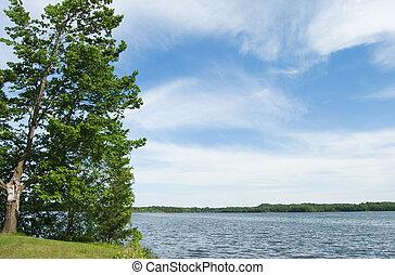 escénico, lago