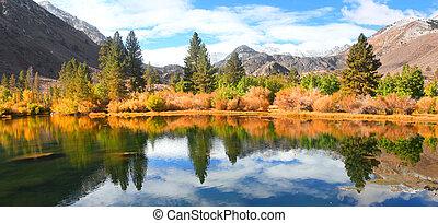 escénico, paisaje de otoño