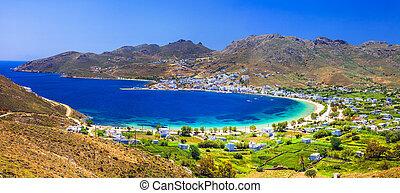 escénico, tranquilo, grecia, serifos, cyclades, -, isla, playas