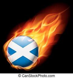 escócia, redondo, lustroso, ícone