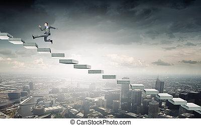 escada carreira, cima