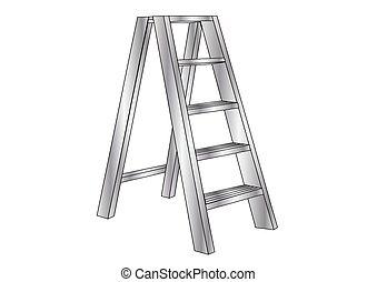 escada, metálico
