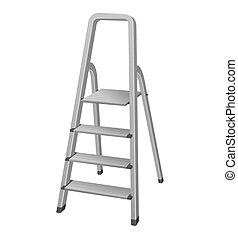 escada, passo, ilustração, isolado