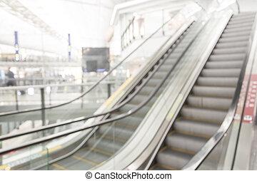 escada rolante, obscurecido