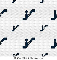 escada rolante, padrão, sinal., seamless, vetorial, geomã©´ricas, texture., ícone