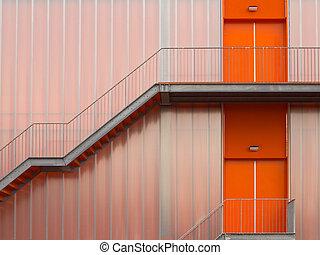 escada salva-vidas, escadas