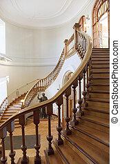 escadaria, biblioteca