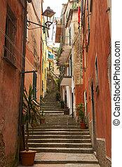 escadaria, estreito