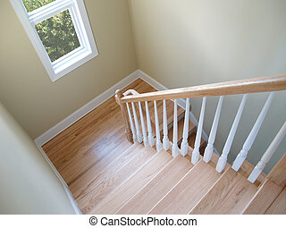 escadaria, janela