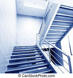 escadas, casa, modernos